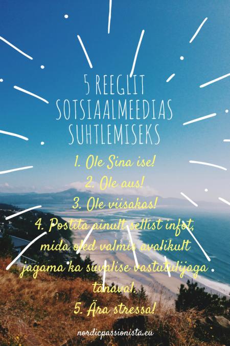 5 reeglit sotsiaalmeedias nordic passionista